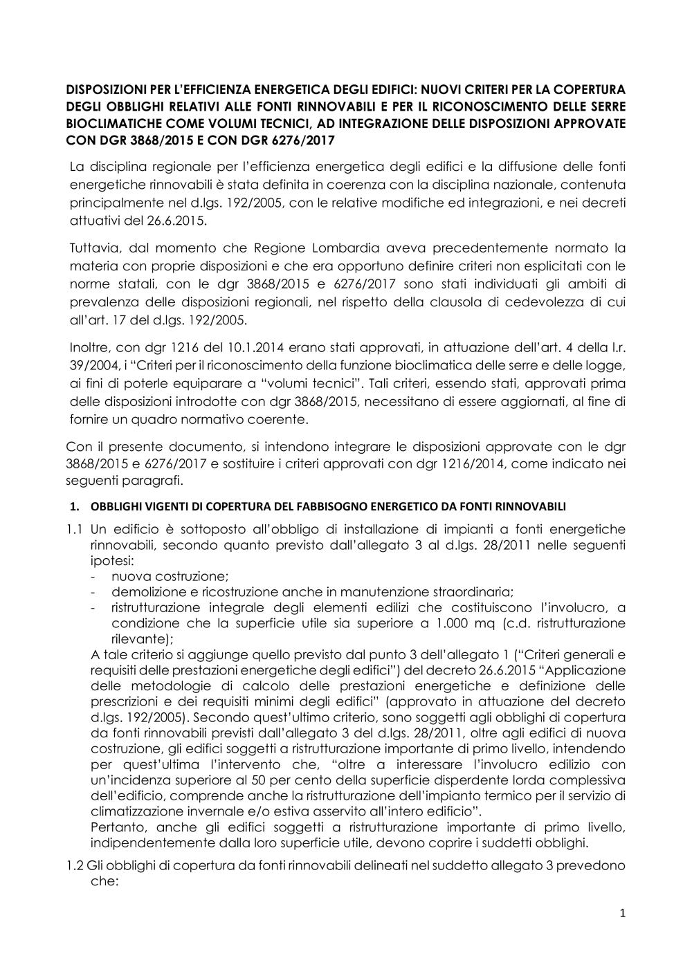 Serra Bioclimatica Normativa Lombardia delibera di giunta regionale, 18 novembre 2019 - xi 2480